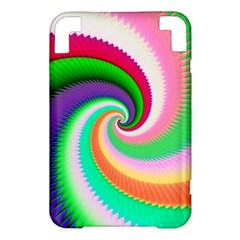 Colorful Spiral Dragon Scales   Kindle 3 Keyboard 3G
