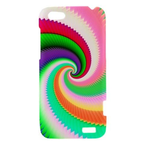 Colorful Spiral Dragon Scales   HTC One V Hardshell Case