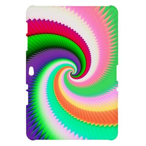 Colorful Spiral Dragon Scales   Samsung Galaxy Tab 10.1  P7500 Hardshell Case