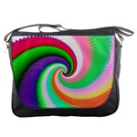 Colorful Spiral Dragon Scales   Messenger Bags Front