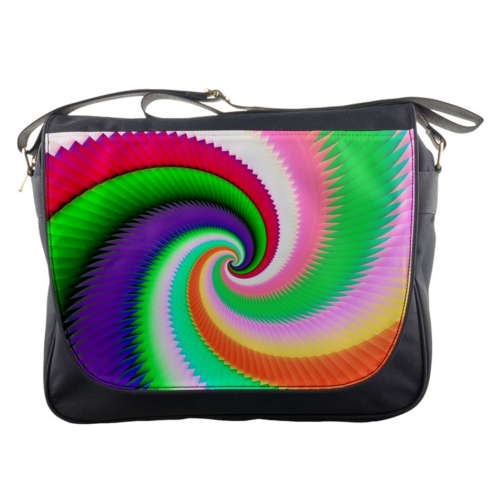 Colorful Spiral Dragon Scales   Messenger Bags