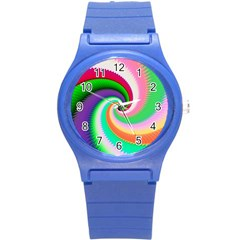 Colorful Spiral Dragon Scales   Round Plastic Sport Watch (s)