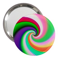 Colorful Spiral Dragon Scales   3  Handbag Mirrors