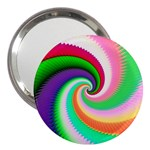 Colorful Spiral Dragon Scales   3  Handbag Mirrors Front
