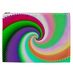 Colorful Spiral Dragon Scales   Cosmetic Bag (XXL)  Front