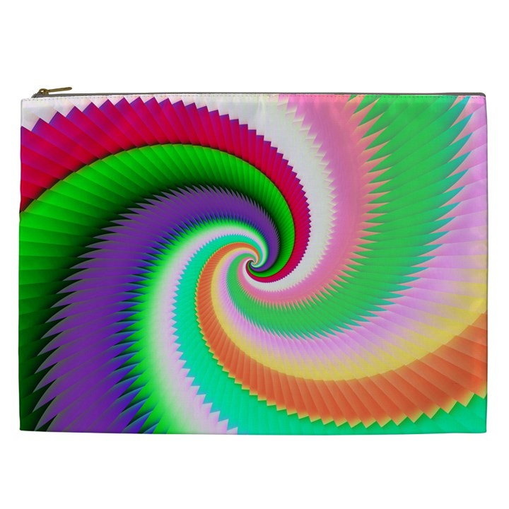 Colorful Spiral Dragon Scales   Cosmetic Bag (XXL)