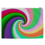 Colorful Spiral Dragon Scales   Cosmetic Bag (XXL)  Back