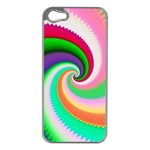 Colorful Spiral Dragon Scales   Apple iPhone 5 Case (Silver) Front