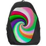 Colorful Spiral Dragon Scales   Backpack Bag Front