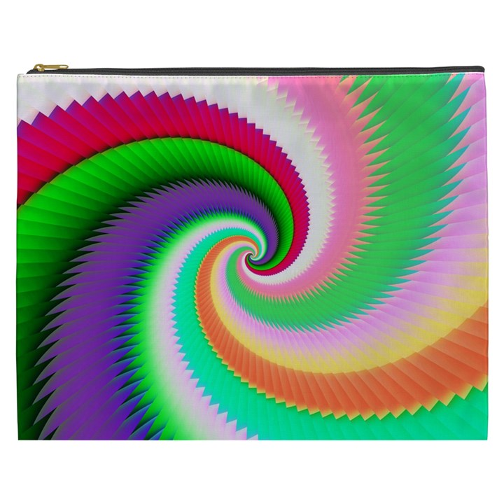 Colorful Spiral Dragon Scales   Cosmetic Bag (XXXL)
