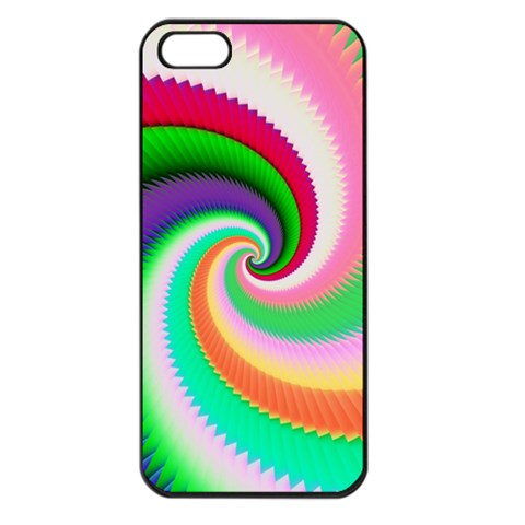 Colorful Spiral Dragon Scales   Apple iPhone 5 Seamless Case (Black)