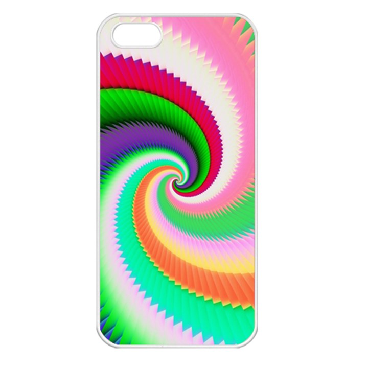 Colorful Spiral Dragon Scales   Apple iPhone 5 Seamless Case (White)