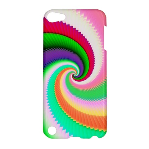 Colorful Spiral Dragon Scales   Apple iPod Touch 5 Hardshell Case
