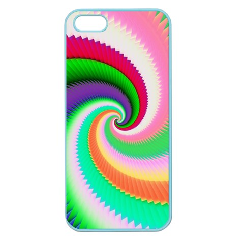 Colorful Spiral Dragon Scales   Apple Seamless iPhone 5 Case (Color)
