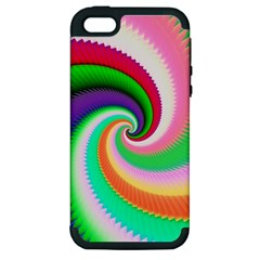 Colorful Spiral Dragon Scales   Apple iPhone 5 Hardshell Case (PC+Silicone)