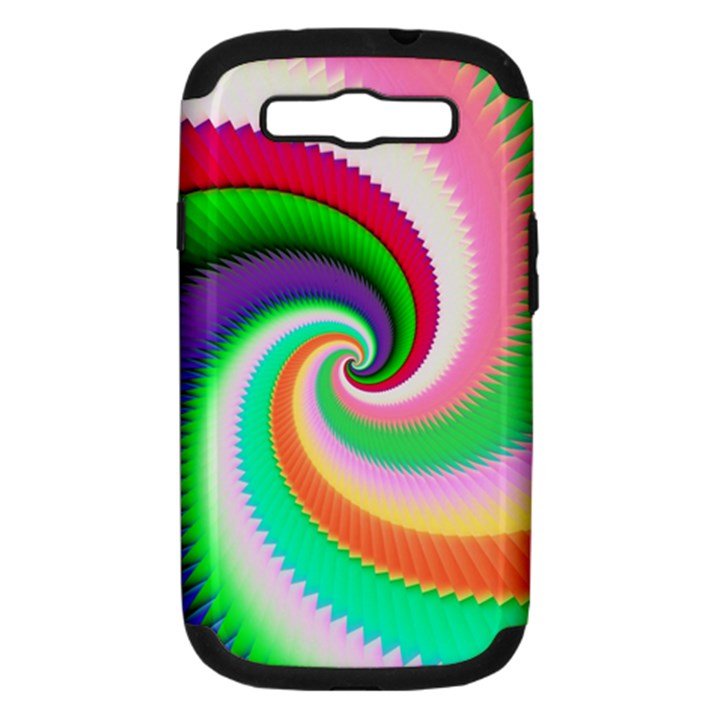 Colorful Spiral Dragon Scales   Samsung Galaxy S III Hardshell Case (PC+Silicone)