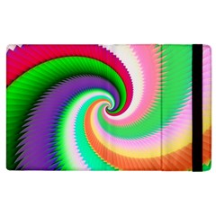 Colorful Spiral Dragon Scales   Apple iPad 2 Flip Case