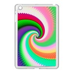 Colorful Spiral Dragon Scales   Apple iPad Mini Case (White) Front
