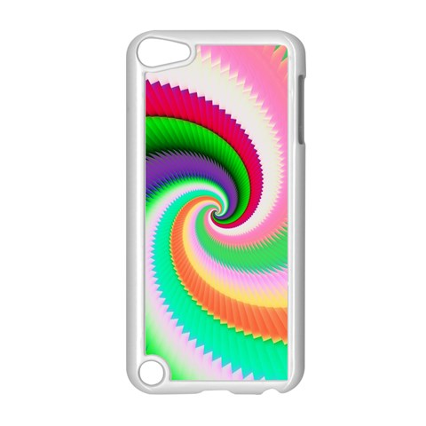 Colorful Spiral Dragon Scales   Apple iPod Touch 5 Case (White)