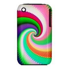 Colorful Spiral Dragon Scales   Apple Iphone 3g/3gs Hardshell Case (pc+silicone)