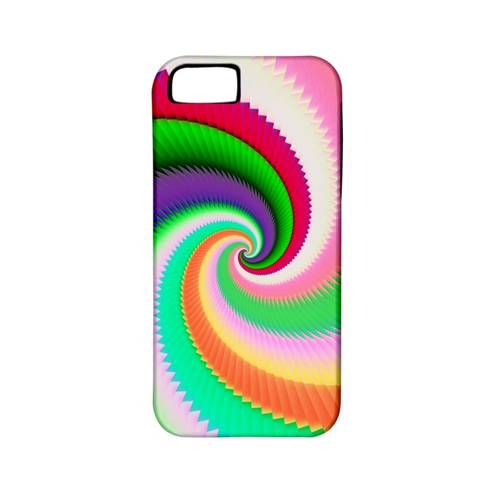 Colorful Spiral Dragon Scales   Apple iPhone 5 Classic Hardshell Case (PC+Silicone)