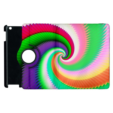 Colorful Spiral Dragon Scales   Apple iPad 2 Flip 360 Case