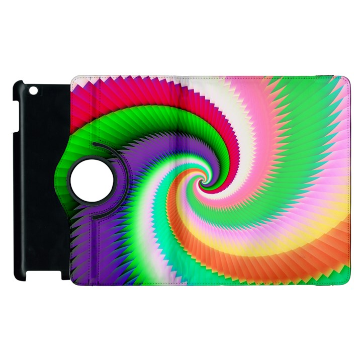 Colorful Spiral Dragon Scales   Apple iPad 3/4 Flip 360 Case