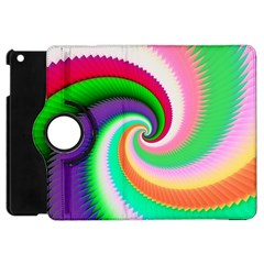 Colorful Spiral Dragon Scales   Apple Ipad Mini Flip 360 Case