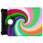 Colorful Spiral Dragon Scales   Kindle Fire HD Flip 360 Case Front