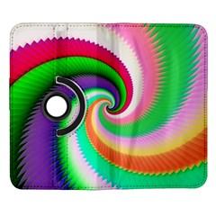 Colorful Spiral Dragon Scales   Samsung Galaxy Note II Flip 360 Case