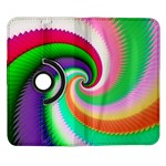 Colorful Spiral Dragon Scales   Samsung Galaxy Note II Flip 360 Case Front