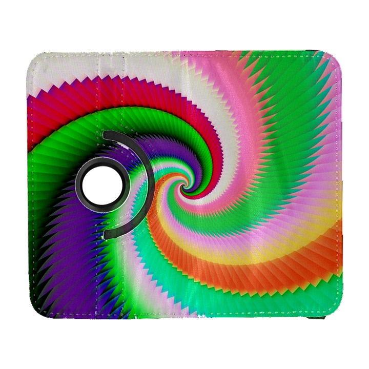 Colorful Spiral Dragon Scales   Samsung Galaxy S  III Flip 360 Case