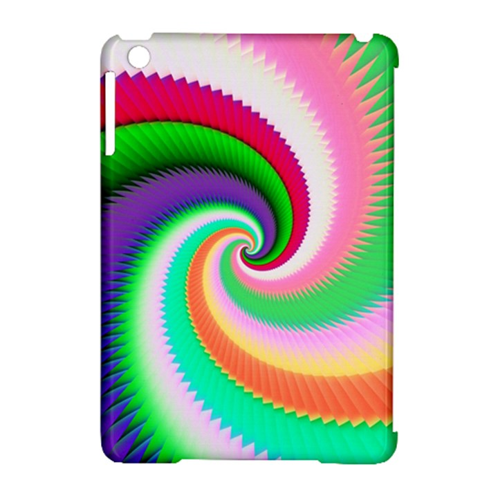 Colorful Spiral Dragon Scales   Apple iPad Mini Hardshell Case (Compatible with Smart Cover)