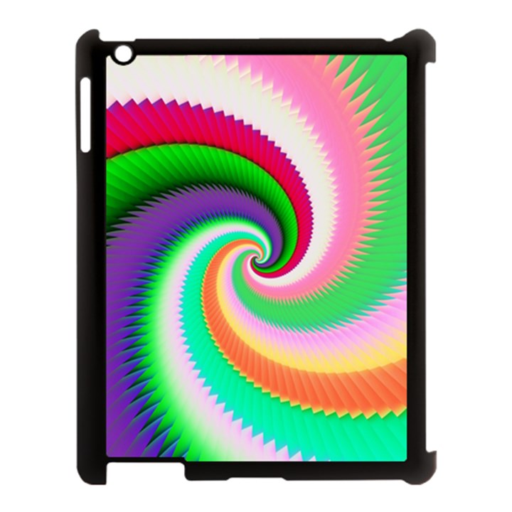 Colorful Spiral Dragon Scales   Apple iPad 3/4 Case (Black)