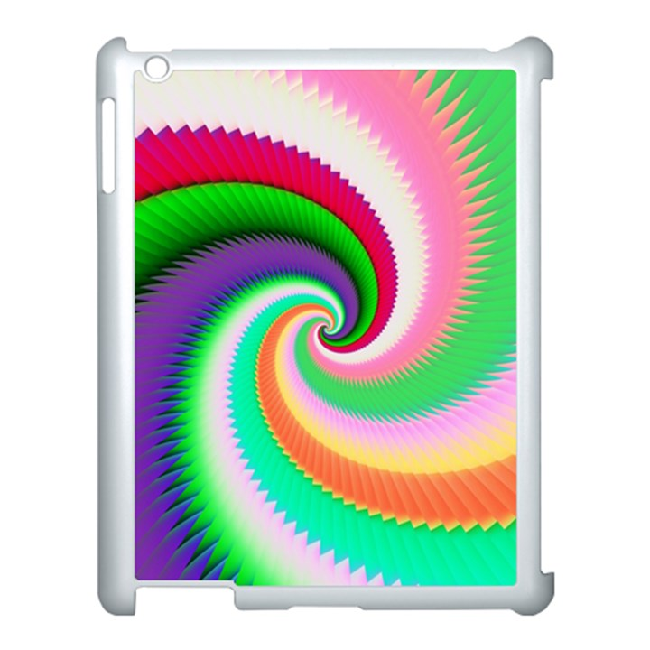 Colorful Spiral Dragon Scales   Apple iPad 3/4 Case (White)