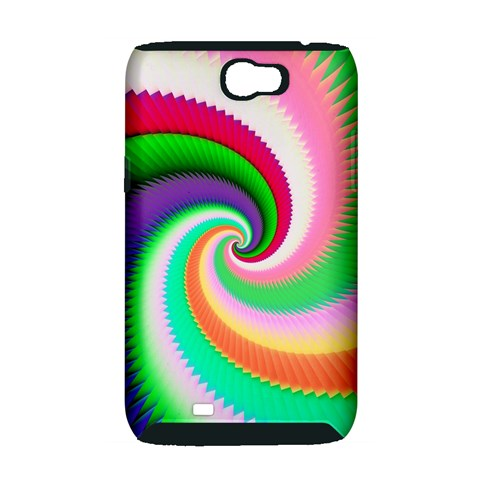 Colorful Spiral Dragon Scales   Samsung Galaxy Note 2 Hardshell Case (PC+Silicone)
