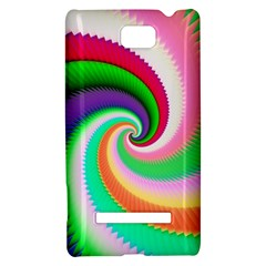 Colorful Spiral Dragon Scales   HTC 8S Hardshell Case