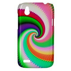 Colorful Spiral Dragon Scales   HTC Desire V (T328W) Hardshell Case