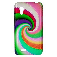 Colorful Spiral Dragon Scales   HTC Desire VT (T328T) Hardshell Case