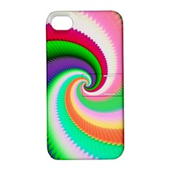 Colorful Spiral Dragon Scales   Apple Iphone 4/4s Hardshell Case With Stand