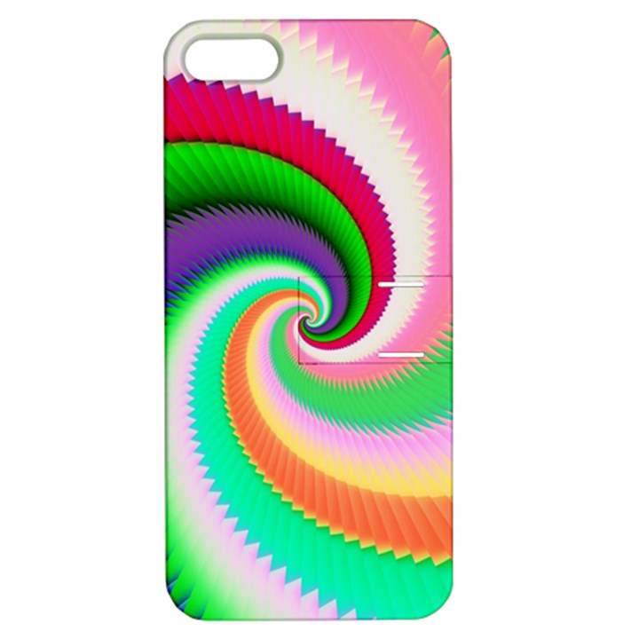 Colorful Spiral Dragon Scales   Apple iPhone 5 Hardshell Case with Stand