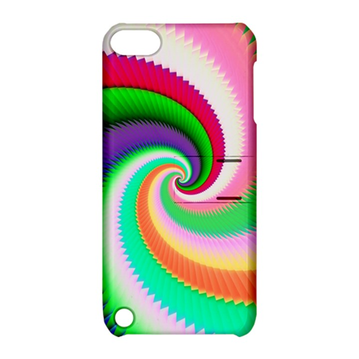 Colorful Spiral Dragon Scales   Apple iPod Touch 5 Hardshell Case with Stand