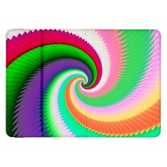 Colorful Spiral Dragon Scales   Samsung Galaxy Tab 8.9  P7300 Flip Case