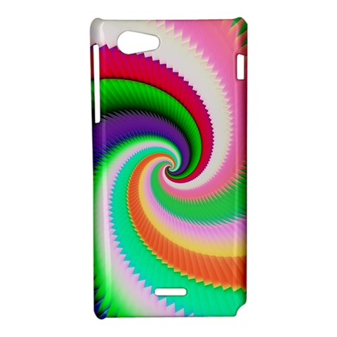 Colorful Spiral Dragon Scales   Sony Xperia J
