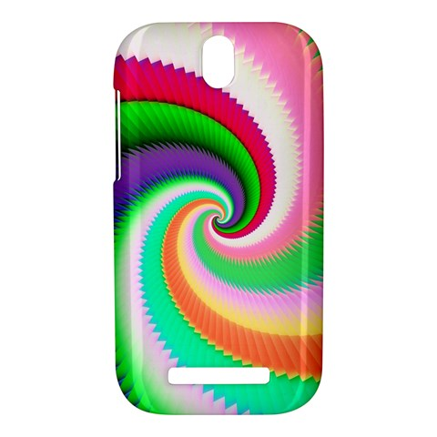 Colorful Spiral Dragon Scales   HTC One SV Hardshell Case