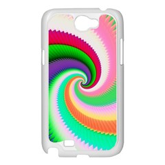 Colorful Spiral Dragon Scales   Samsung Galaxy Note 2 Case (White)