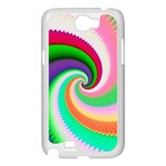Colorful Spiral Dragon Scales   Samsung Galaxy Note 2 Case (White) Front