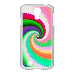 Colorful Spiral Dragon Scales   Samsung GALAXY S4 I9500/ I9505 Case (White)