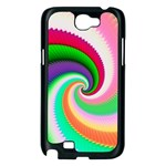 Colorful Spiral Dragon Scales   Samsung Galaxy Note 2 Case (Black) Front