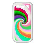 Colorful Spiral Dragon Scales   Samsung Galaxy S3 Back Case (White) Front